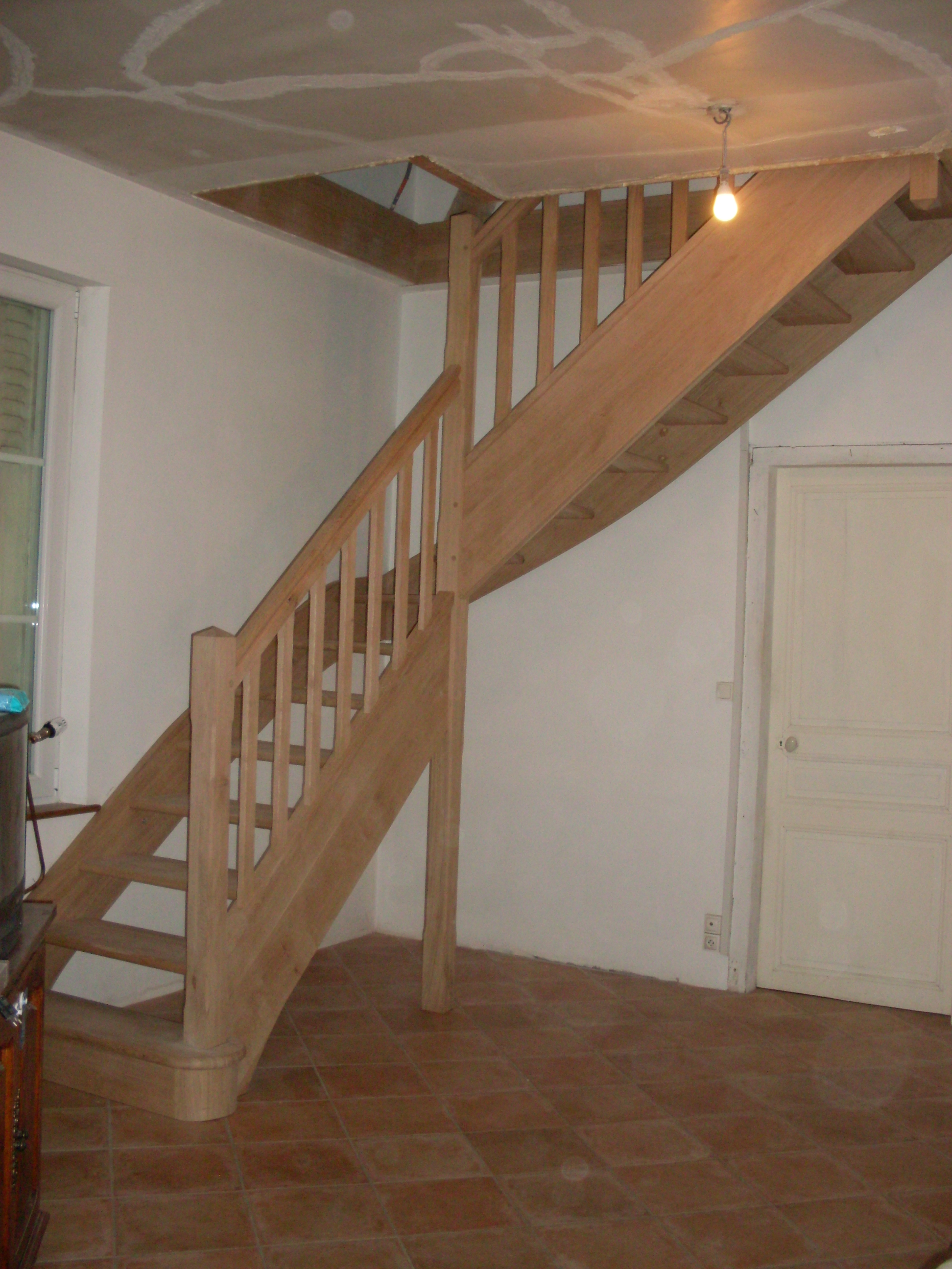 Escalier avec palier intermédiaire « L\'atelier menuiserie